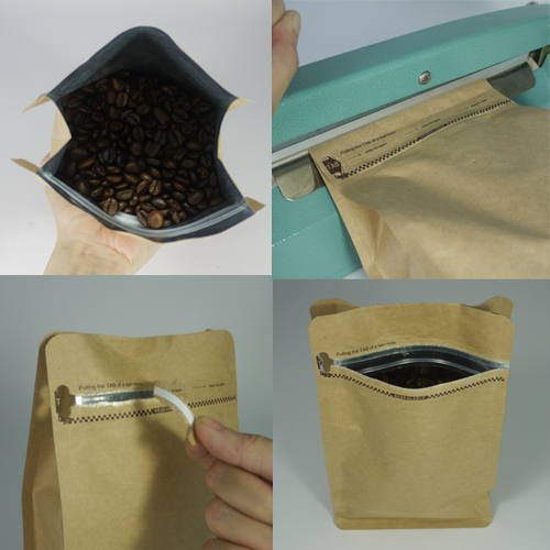 Coffee Bag 1 1 Box Pouch Coffee Bag With Pocket Zip